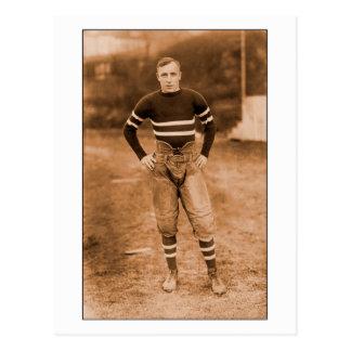 Cartão Postal 1900s adiantados do jogador de futebol