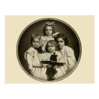 Cartão Postal 1900s demoníacos maus assustadores engraçados das