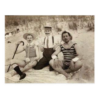 Cartão Postal 1903 vagabundos da praia