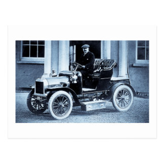 Cartão Postal 1907 automóvel - vintage