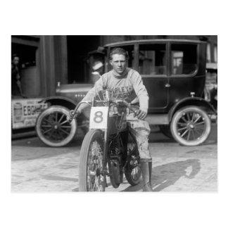 Cartão Postal 1920 que compete a motocicleta