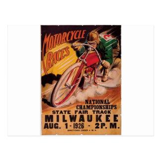 Cartão Postal 1926 que competem o poster