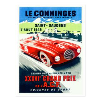Cartão Postal 1949 Prix grande francês que compete o poster