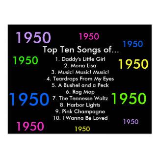 Cartão Postal 1950 canções