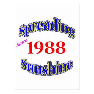 Cartão Postal 1988 luzes do sol de espalhamento