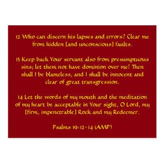 Cartão Postal 19:12 dos salmos - 14 (ampère)