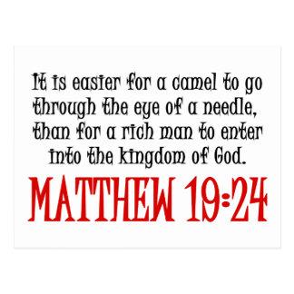 Cartão Postal 19:24 de Matthew
