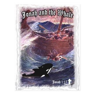 Cartão Postal 1:17 de Jonah - Jonah e a baleia