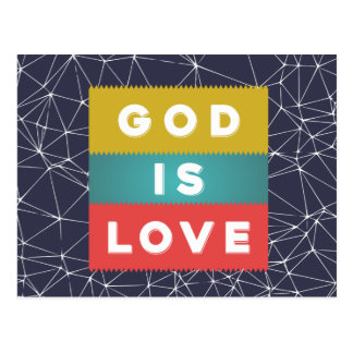 Cartão Postal 1 4:8 de John - o deus é amor