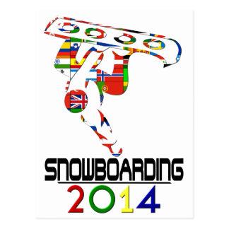Cartão Postal 2014: Snowboarding