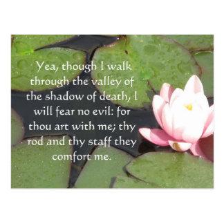 Cartão Postal 23:4 de inspiração do salmo da escritura da bíblia