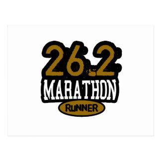 Cartão Postal 26,2 Corredor de maratona
