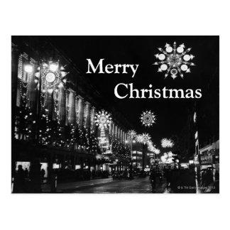 Cartão Postal 26 de novembro de 1960: Luzes de Natal da cidade