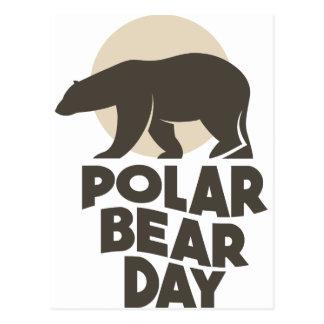 Cartão Postal 27 de fevereiro - dia do urso polar