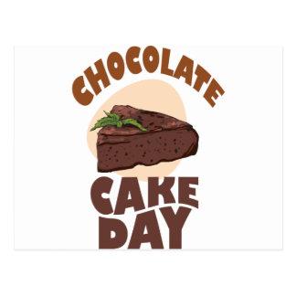 Cartão Postal 27 de janeiro - dia do bolo de chocolate