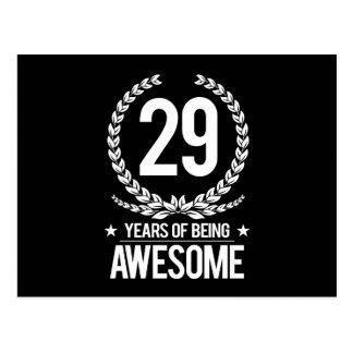 Cartão Postal 29o Aniversário (29 anos de ser impressionantes)
