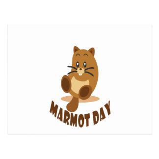 Cartão Postal 2 de fevereiro - dia da marmota