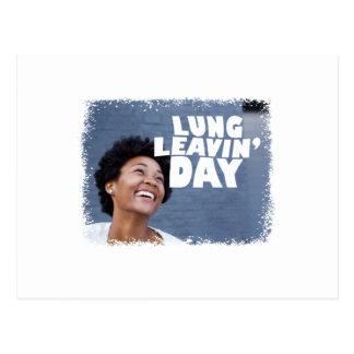 Cartão Postal 2 de fevereiro - dia de Leavin do pulmão - dia da