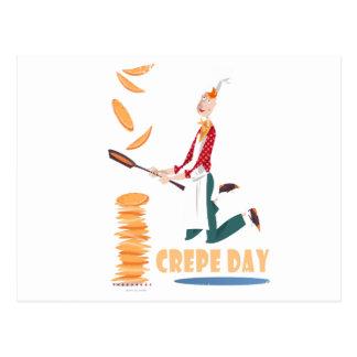 Cartão Postal 2 de fevereiro - dia do Crepe