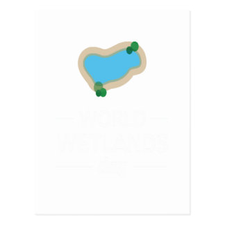 Cartão Postal 2 de fevereiro - dia dos pantanais do mundo