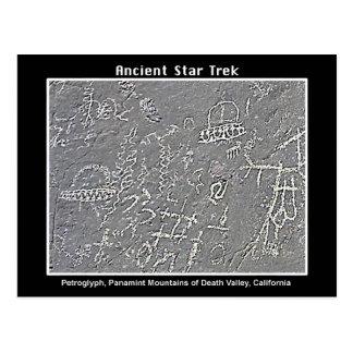Cartão Postal 2. Petroglyph do UFO no Vale da Morte