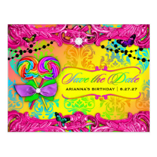 Cartão Postal 311 economias do doce 16 do rosa do país das