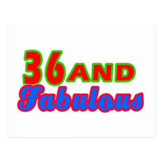 Cartão Postal 36 e design fabuloso do aniversário
