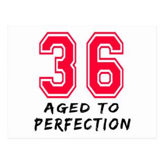 Cartão Postal 36 envelheceu ao design do aniversário da