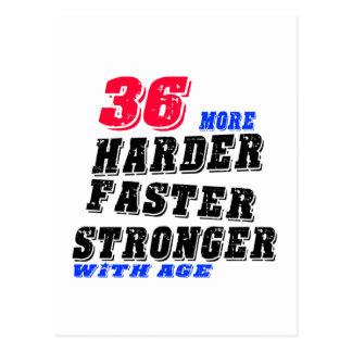 Cartão Postal 36 mais fortes mais rápidos mais duros com idade