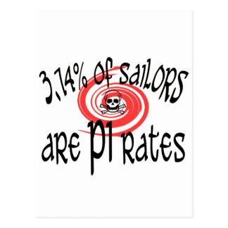 Cartão Postal 3,14 Piratas