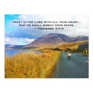 Cartão Postal 3:5 dos provérbio - 6 confiam o senhor, Ireland