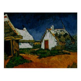 Cartão Postal 3 casas de campo brancas Saintes-Maries, Vincent