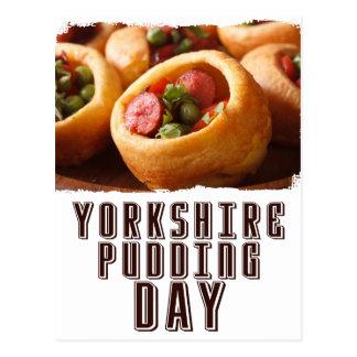 Cartão Postal 3 de fevereiro - dia do pudim de Yorkshire