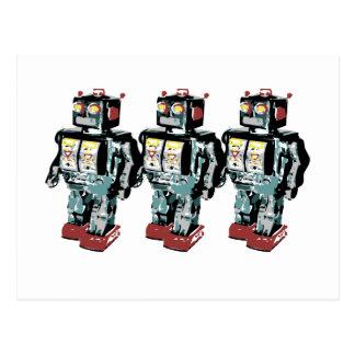 Cartão Postal 3 robôs