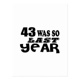 Cartão Postal 43 era assim tão no ano passado o design do
