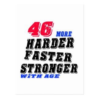 Cartão Postal 46 mais fortes mais rápidos mais duros com idade