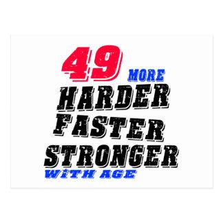 Cartão Postal 49 mais fortes mais rápidos mais duros com idade