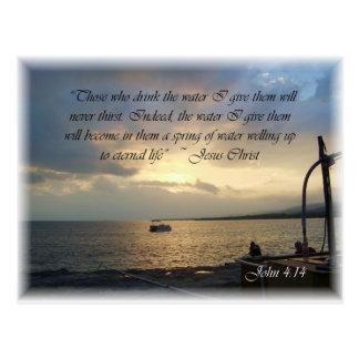 Cartão Postal 4:14 de John