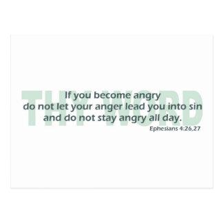 Cartão Postal 4:26 de Ephesians - 27