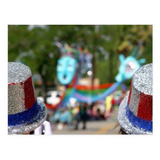 Cartão Postal 4 de julho chapéus