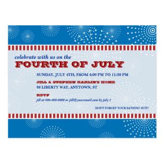 Cartão Postal 4 de julho partido da explosão do partido
