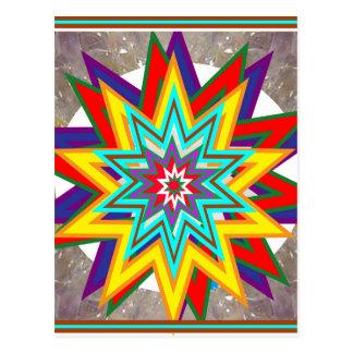Cartão Postal 4 presentes curas da arte do símbolo de Karuna