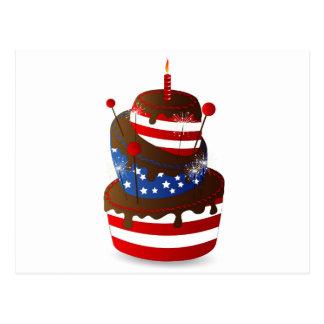 Cartão Postal 4o bolo feliz da celebração