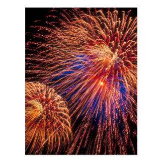 Cartão Postal 4o de fogos-de-artifício de julho