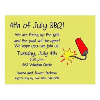 Cartão Postal 4o do foguete de julho