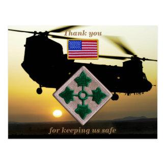 Cartão Postal 4o remendo dos veterinários dos veteranos de Fort