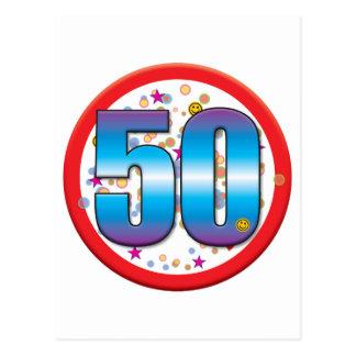 Cartão Postal 50th Aniversário v2