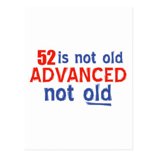 Cartão Postal 52 anos de design velho do aniversário