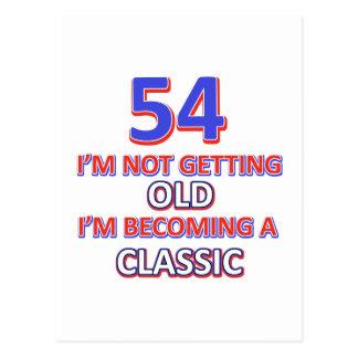 Cartão Postal 54 designs do aniversário