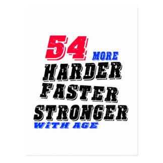 Cartão Postal 54 mais fortes mais rápidos mais duros com idade